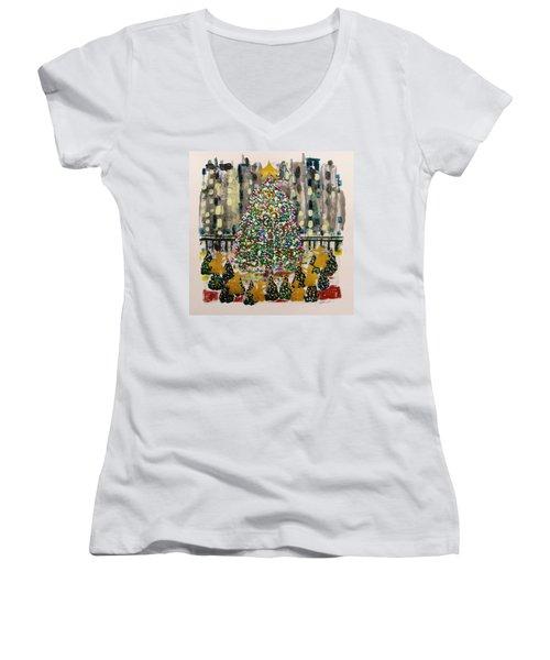 Rockefeller Center Women's V-Neck T-Shirt