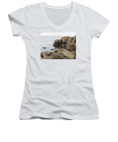 Rocky Formations Women's V-Neck T-Shirt (Junior Cut) by Joseph Baril
