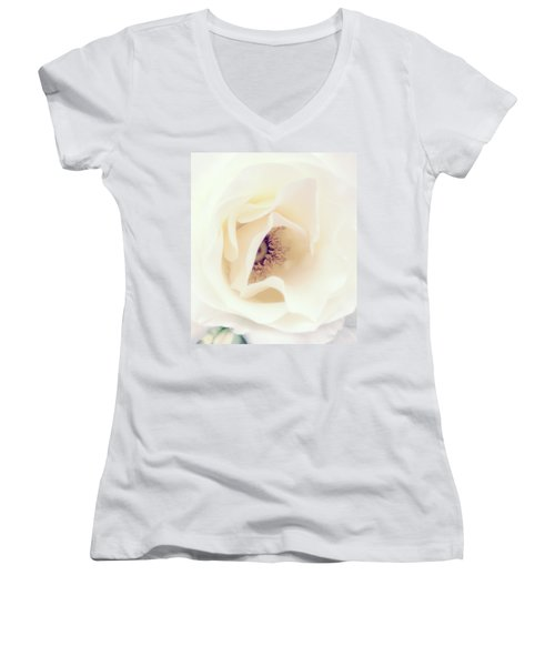 Romance In A Rose Women's V-Neck (Athletic Fit)