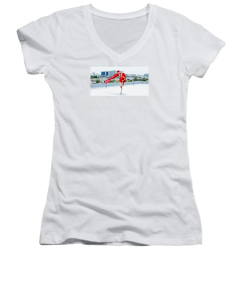Roof Top II Women's V-Neck T-Shirt