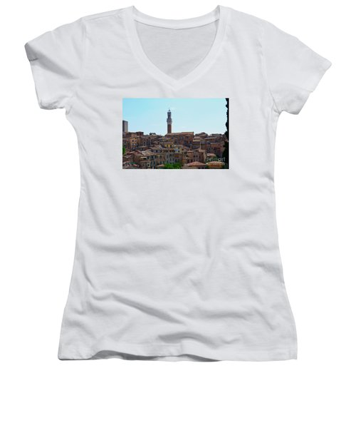 Roofs Of Siena Women's V-Neck T-Shirt