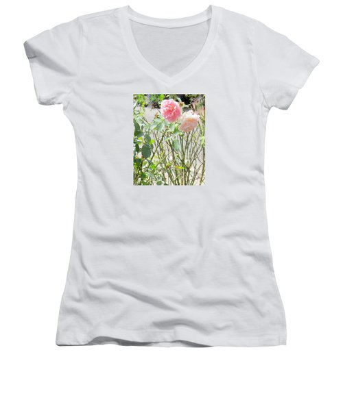 Missing You Greeting Card Women's V-Neck (Athletic Fit)