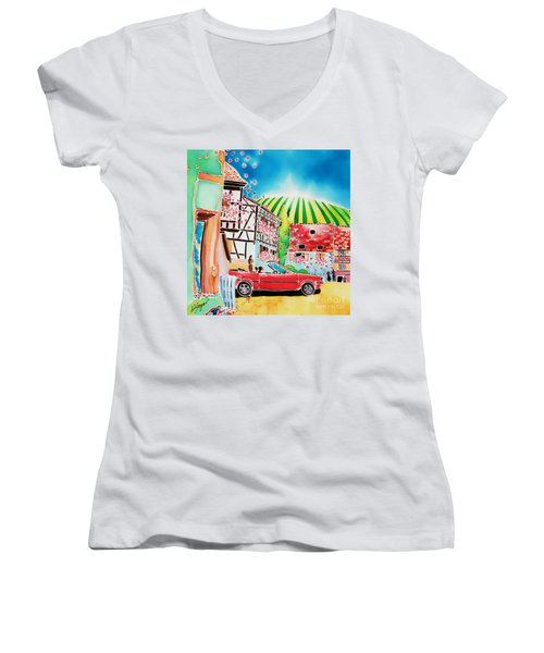 Route Des Vins Women's V-Neck