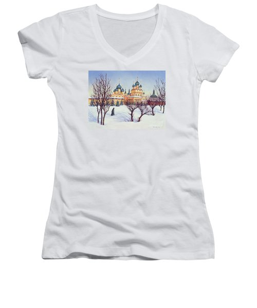 Russian Winter Women's V-Neck T-Shirt