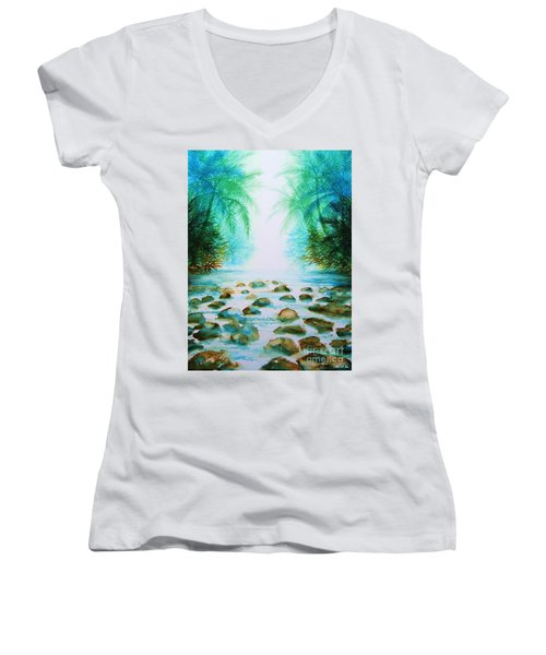 Sacred Pools Women's V-Neck (Athletic Fit)
