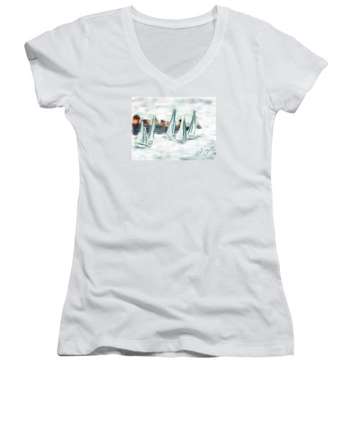 Sail Away With Me Women's V-Neck T-Shirt