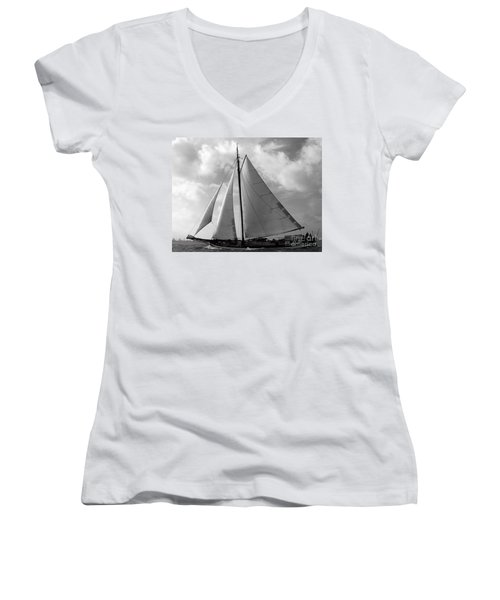 Women's V-Neck featuring the photograph Sail By by Luc Van de Steeg