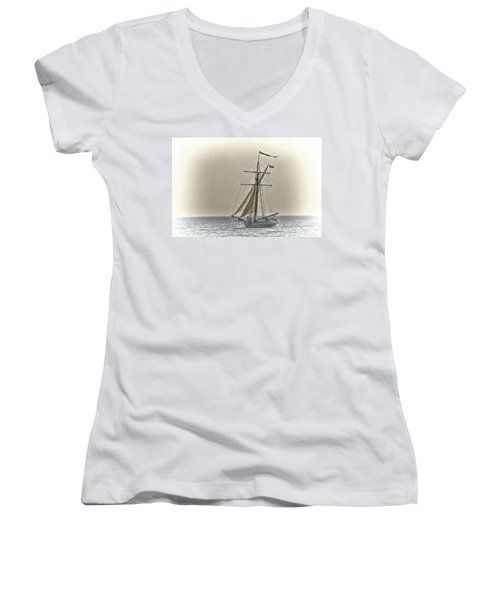 Sailing Off Women's V-Neck (Athletic Fit)