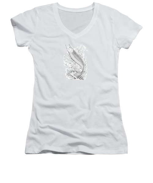 Salmon Women's V-Neck T-Shirt