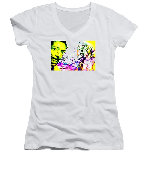 Salvador Dali Pop Art Women's V-Neck (Athletic Fit)