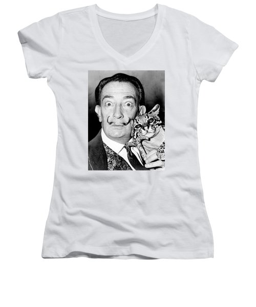 Salvador Dali Women's V-Neck