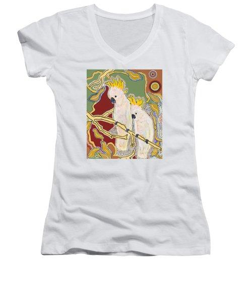Sanctuary Women's V-Neck T-Shirt (Junior Cut) by Pat Saunders-White