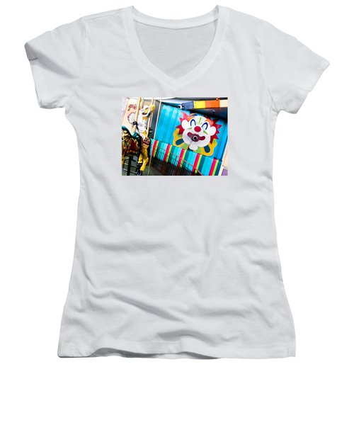 Santa Cruz Boardwalk Carousel Women's V-Neck