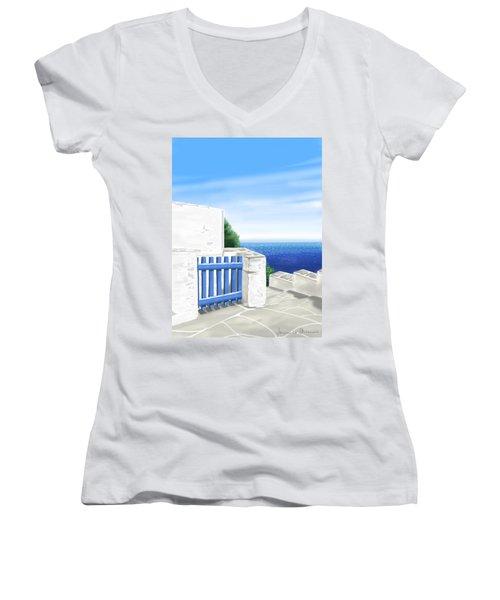 Santorini Women's V-Neck (Athletic Fit)