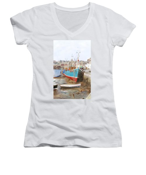 Scarborough Harbour Women's V-Neck T-Shirt