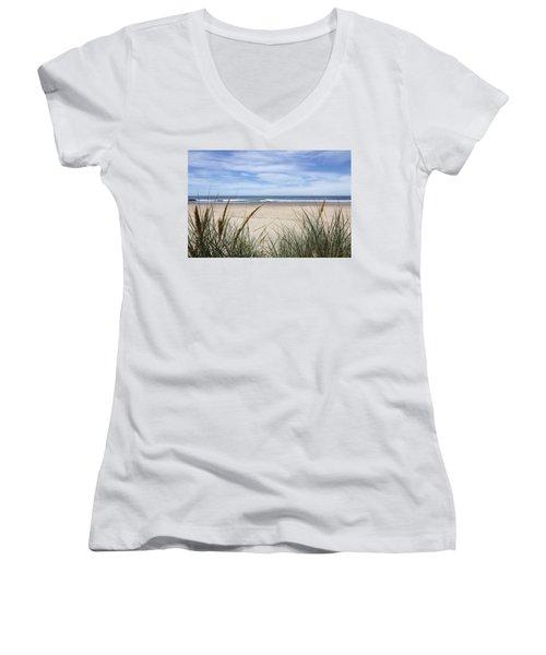 Scenic Oceanview Women's V-Neck T-Shirt