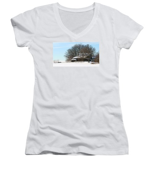 Scenic Wayne County Ohio Women's V-Neck (Athletic Fit)