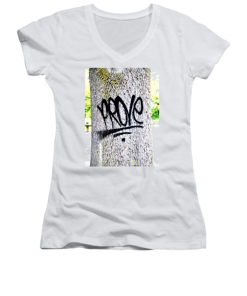 Scientific Graffiti  Women's V-Neck T-Shirt