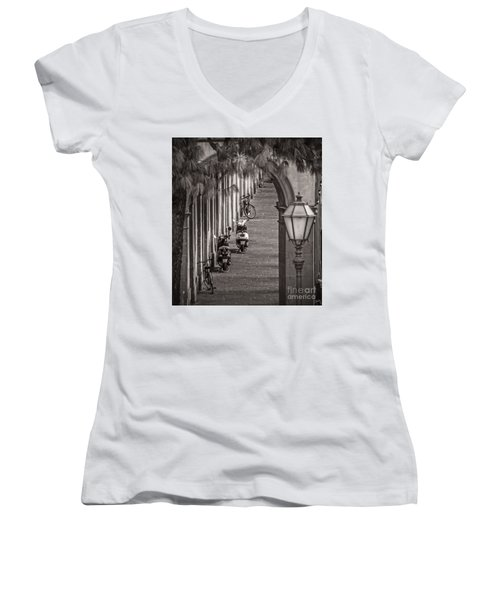 Scooters And Bikes Women's V-Neck