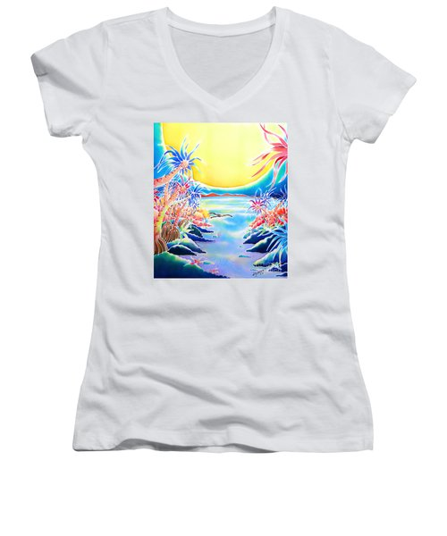 Seashore In The Moonlight Women's V-Neck
