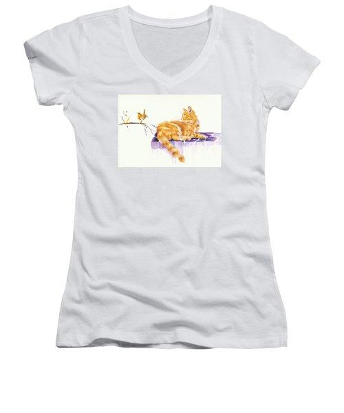 Season's Greetings Women's V-Neck T-Shirt