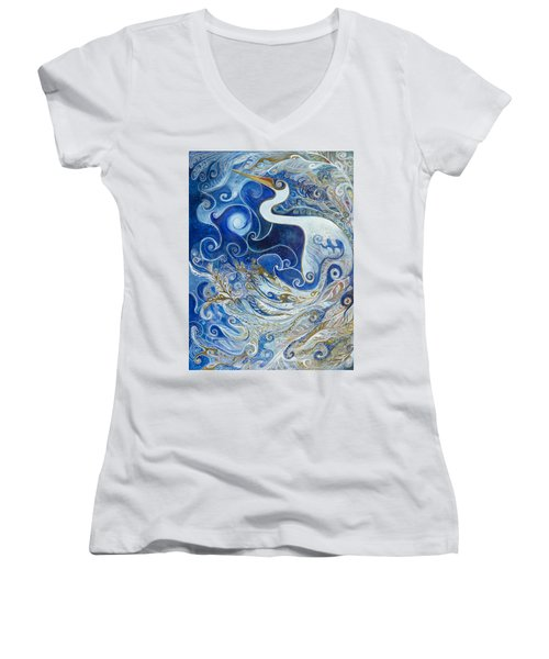 Seeking Balance Women's V-Neck T-Shirt