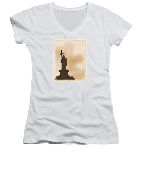 Seeking The Divine Women's V-Neck T-Shirt (Junior Cut) by Nadalyn Larsen