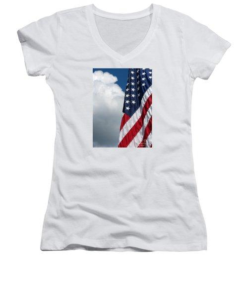 September Flag Women's V-Neck T-Shirt