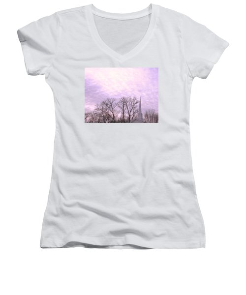 Women's V-Neck T-Shirt (Junior Cut) featuring the photograph Serenity by Pamela Hyde Wilson