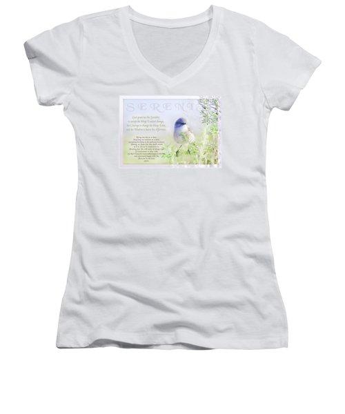 Serenity Prayer Women's V-Neck T-Shirt