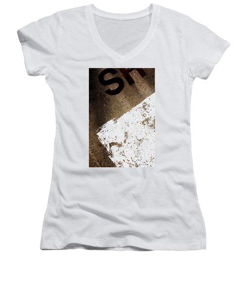 SH Women's V-Neck T-Shirt (Junior Cut) by Bob Orsillo