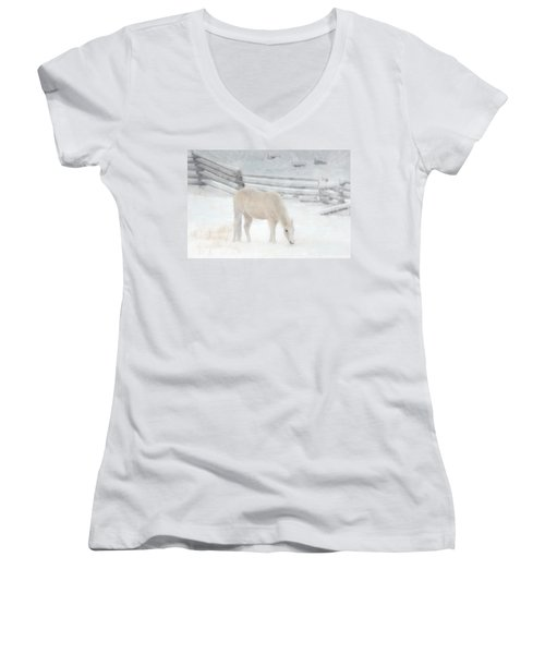 Shades Of Pale Women's V-Neck T-Shirt (Junior Cut) by Ed Hall