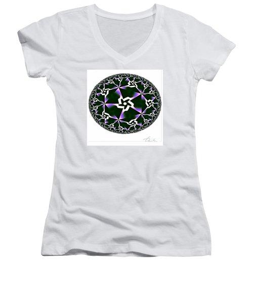 Shards Of Twiliths Women's V-Neck T-Shirt (Junior Cut) by Danuta Bennett