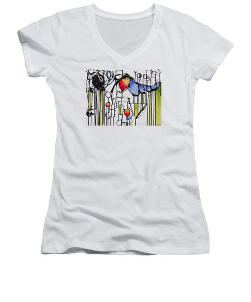 Sharpened Perception Women's V-Neck T-Shirt (Junior Cut) by Jason Williamson