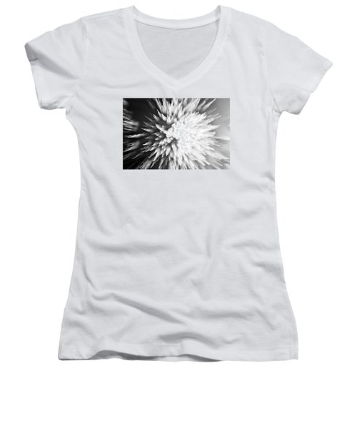 Women's V-Neck T-Shirt (Junior Cut) featuring the photograph Shattered by Dazzle Zazz