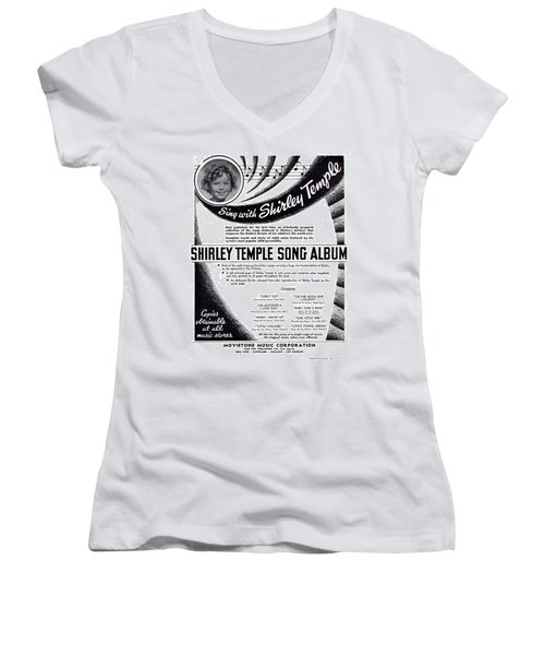 Shirley Temple Song Album Women's V-Neck T-Shirt