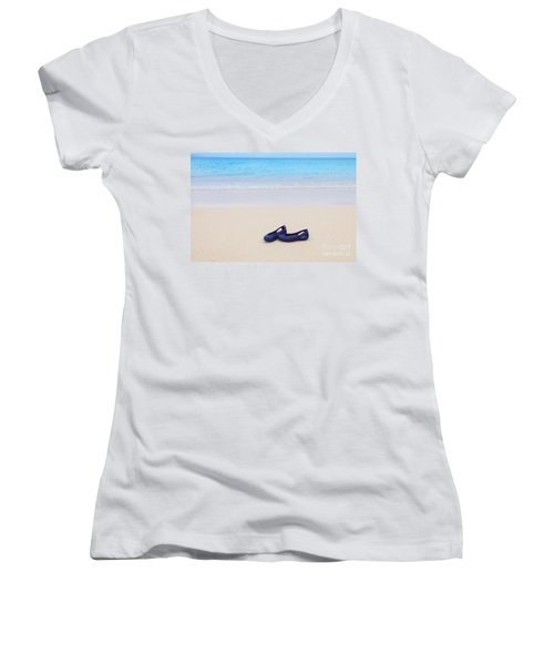 Shoes In Paradise Women's V-Neck T-Shirt