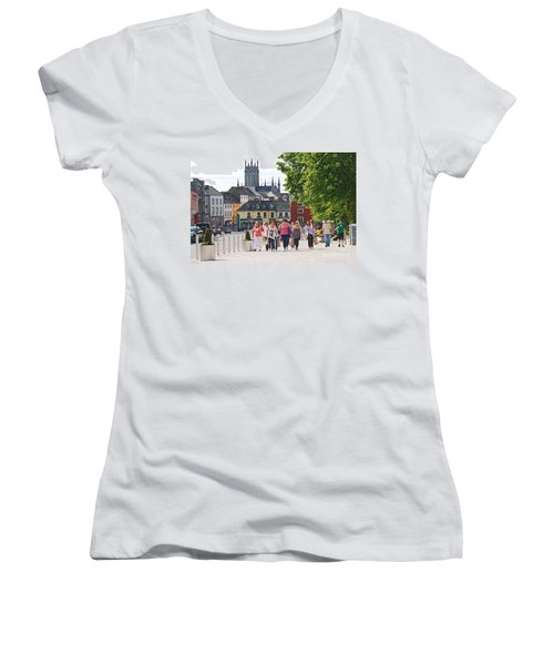Women's V-Neck T-Shirt (Junior Cut) featuring the photograph Shopping Trip by Mary Carol Story