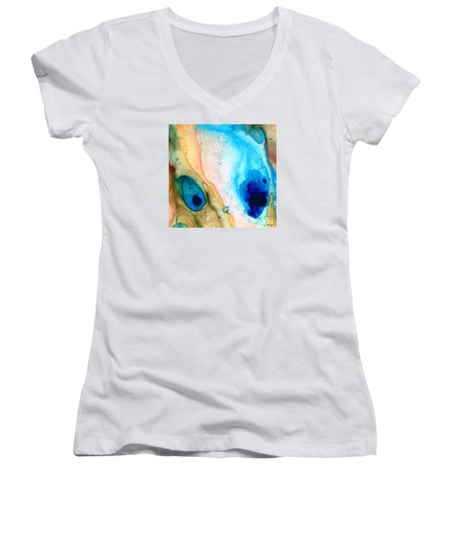 Shoreline - Abstract Art By Sharon Cummings Women's V-Neck (Athletic Fit)