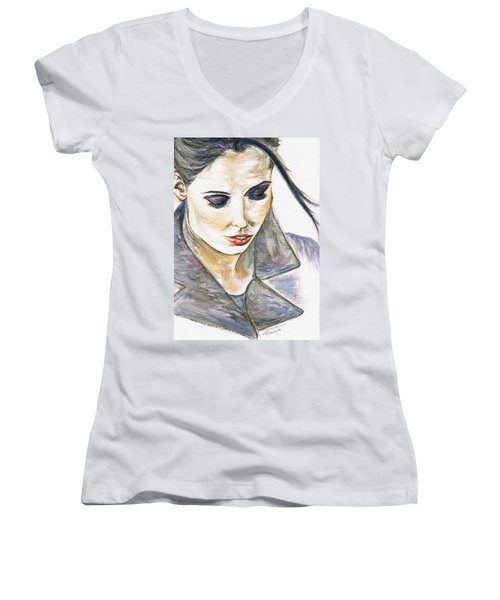 Shy Lady Women's V-Neck T-Shirt