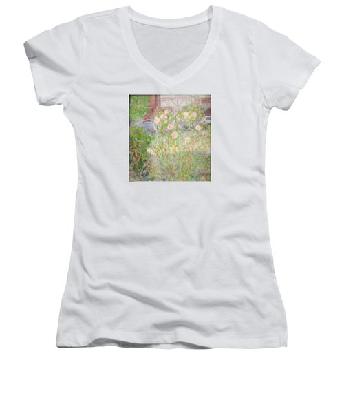 Sidewalk Flowers In Chicago Women's V-Neck (Athletic Fit)