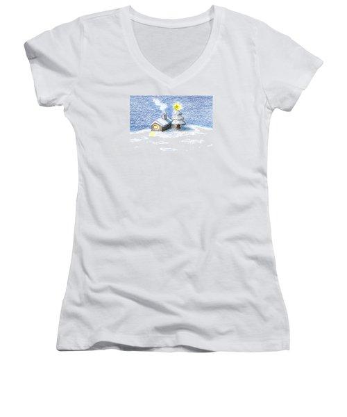 Silent Night Women's V-Neck T-Shirt