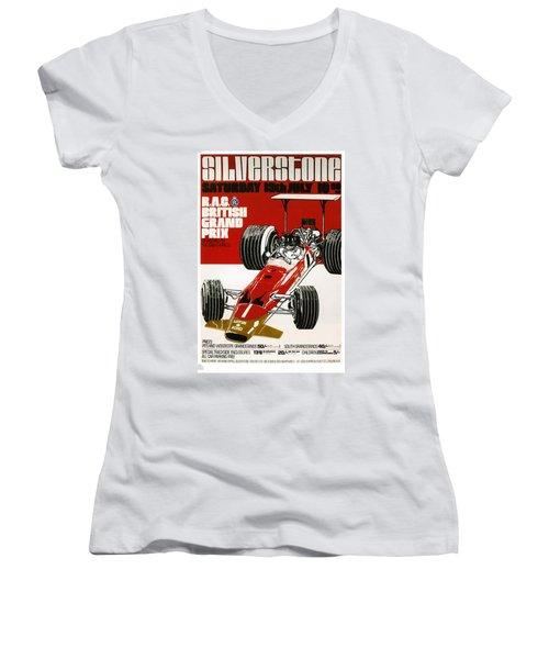 Silverstone Grand Prix 1969 Women's V-Neck