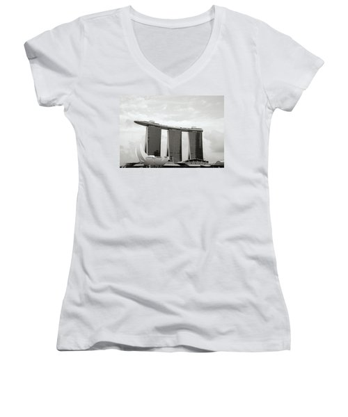 Singapore Skyline Women's V-Neck