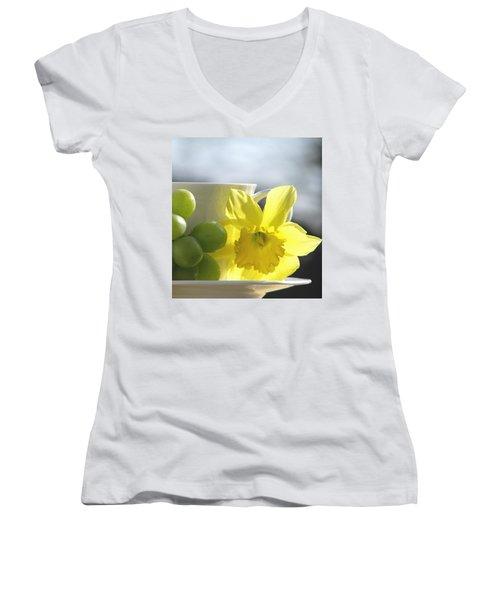 Sipping Spring Women's V-Neck