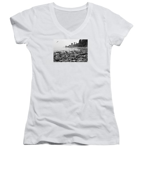 Sirmione Castle Women's V-Neck (Athletic Fit)