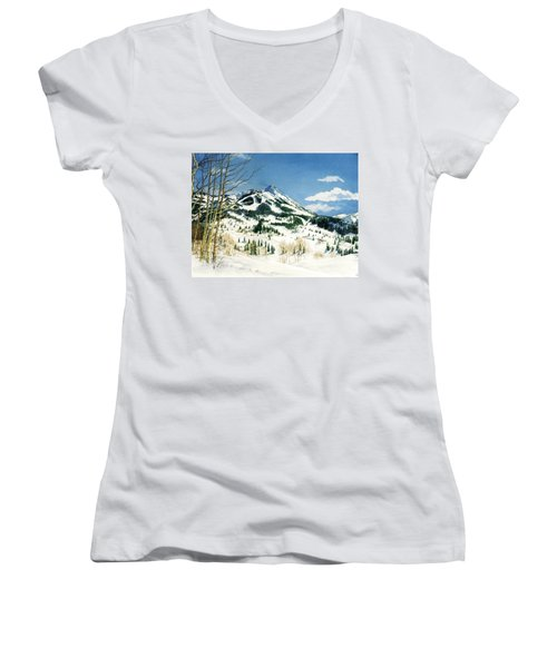 Skiers Paradise Women's V-Neck T-Shirt