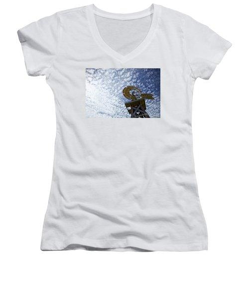 Skyward Women's V-Neck T-Shirt (Junior Cut) by Erika Weber