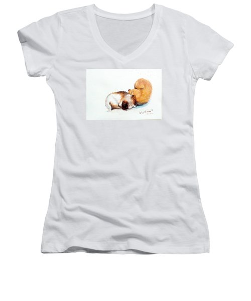 Sleeping Puppies Women's V-Neck