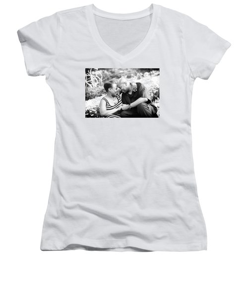 Women's V-Neck T-Shirt (Junior Cut) featuring the photograph Smith Harper 14 by Coby Cooper